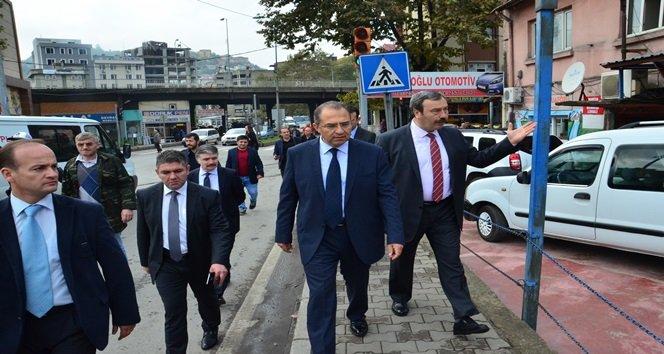 VALİ KABAN, TEKEL BİNASINDA İNCELEMELERDE BULUNDU