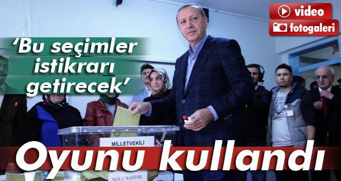 Erdoğan oyunu İstanbul'da kullandı