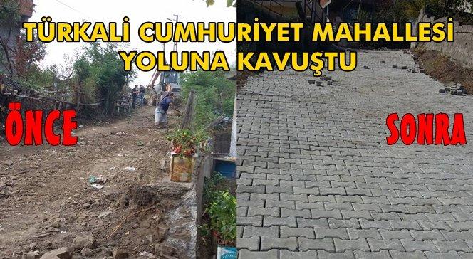 Türkali'de Cumhuriyet Mahallesine Yapılan Yol Açıldı