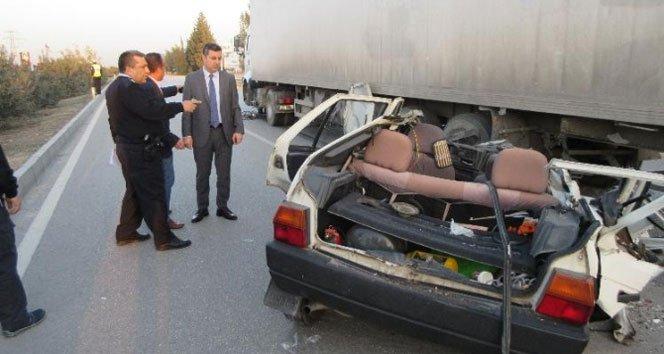 Otomobil hurdaya döndü: 2 ölü, 2 yaralı