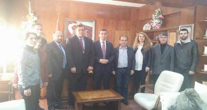 CHP Heyeti'nden İlçe Kaymakamı Keçeli'ye Ziyaret