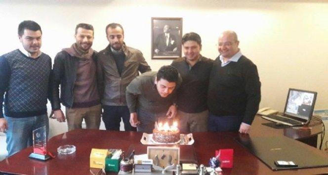 Başkan Mantarlı'ya süpriz doğum günü
