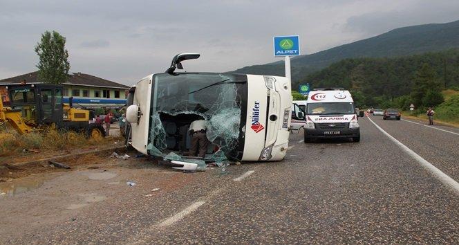 Kastamonu-Karabük karayolunda yolcu otobüsü devrildi: 28 yaralı