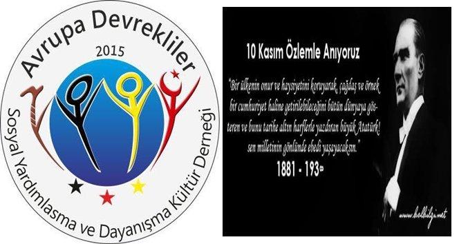 Avrupalı Devrekliler Atatürk'ü Andı