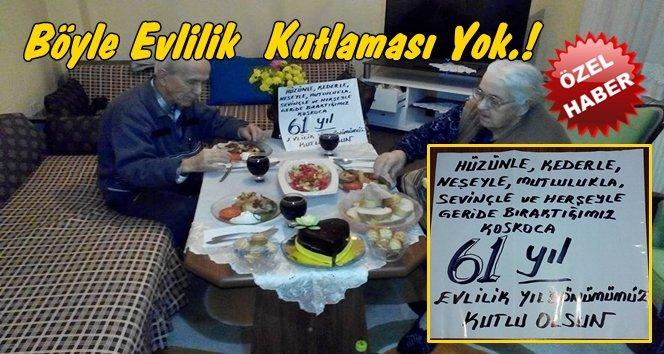 Bu Haber Türkali'den; 61. Evlilik Yıldönümlerini Kutladılar