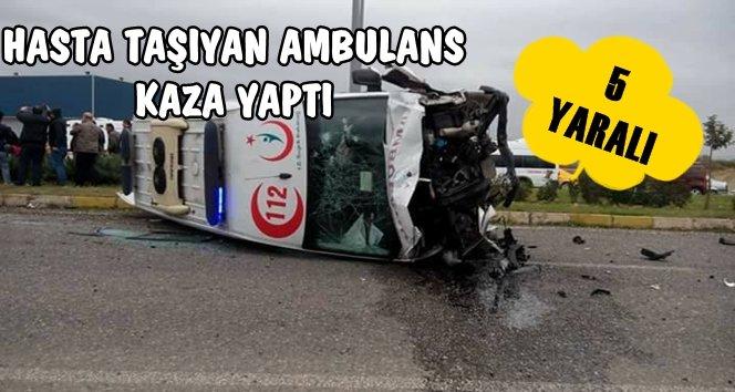 Hasta Taşıyan Ambulans Feci Kaza Yaptı (Görüntülü)
