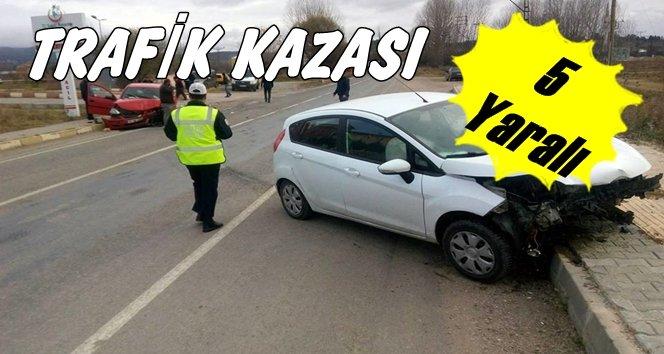 Trafik kazası beş yaralı