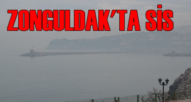 Zonguldak'ta Yoğun Sis Etkili Oldu