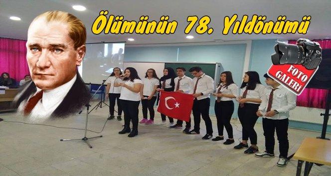 Filyos'ta Atatürk Törenlerle Anıldı