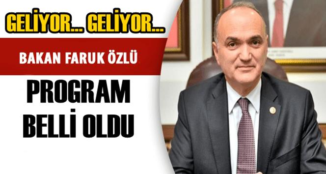 İşte Bakan Özlü'nün Zonguldak Programı