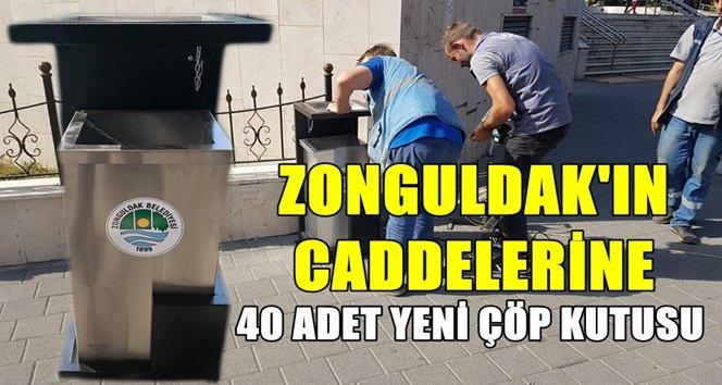Zonguldak'ta eskiyen çöp kutuları yenilendi