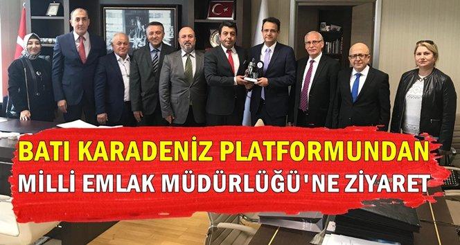 Batı Karadeniz Platformundan Milli Emlak Müdürlüğü'ne ziyaret