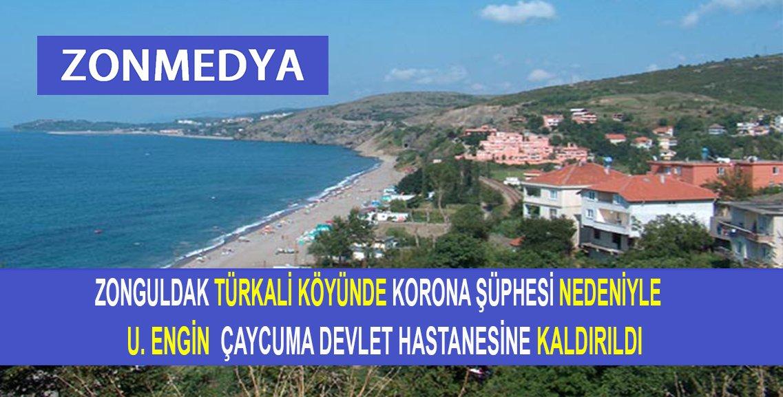 Zonguldak Türkali köyünde korona şüphesi nedeniyle bir gencimiz hastaneye kaldırıldı.