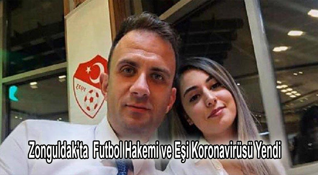 Zonguldak'ta futbol hakemi ve eşi koronavirüsü yendi