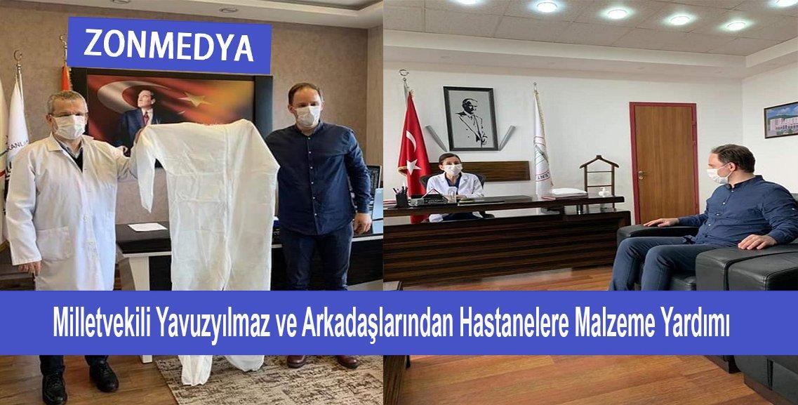 Zonguldak Milletvekili Yavuzyılmaz ve arkadaşlarından hastanelere sağlık malzemesi desteği