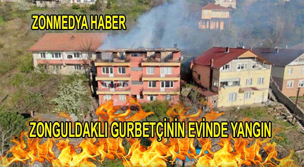 Zonguldak'ta gurbetçiye ait binada çıkan yangında 2 daire de ağır hasar oluştu