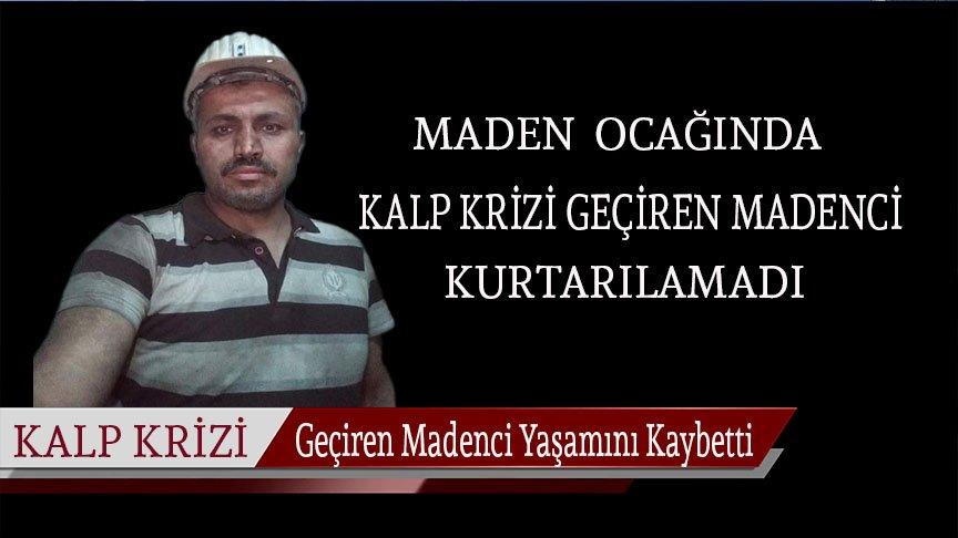 Zonguldak'ta ocakta çalışırken kalp krizi geçiren madenci son yolculuğuna uğurlandı