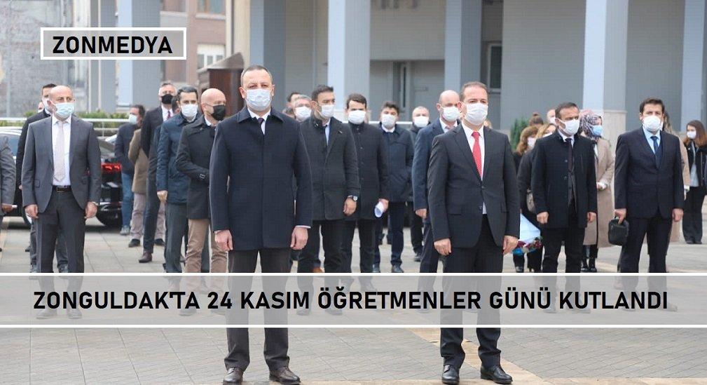 Zonguldak'ta 24 kasım öğretmenler günü kutlandı