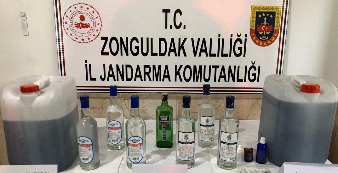 Zonguldak Çaycuma'da sahte içki operasyonu