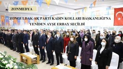 Zonguldak AK Parti Kadın Kolları Başkanlığı'na yeniden Ayşe Erbay seçildi.