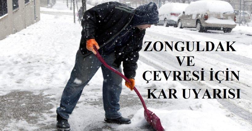Zonguldak ve çevresi için kar yağışı uyarısı