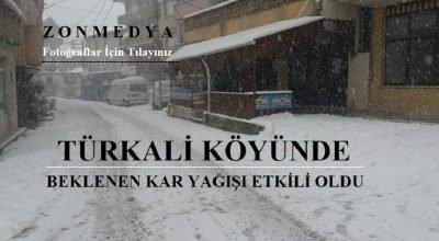 Zonguldak Türkali Köyünde beklenen kar yağışı etkili oldu