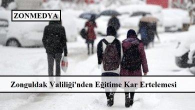 Zonguldak Valiliği'nden  yüz yüze eğitime kar ertelemesi