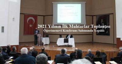 Zonguldak Valiliği'nce düzenlenen aylık muhtarlar toplantısı yapıldı