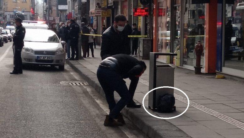 Zonguldak'ta şüpheli poşet fünye ile patlatıldı