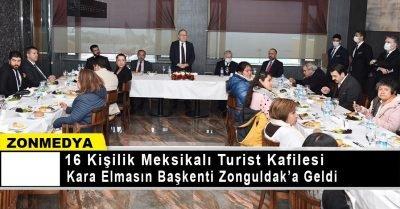 Meksikalı turist kafilesi kara elmasın başkenti Zonguldak'a geldi.