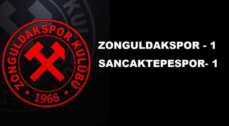 Zonguldak Kömürspor konuk ettiği Sancaktepe ile berabere kaldı.