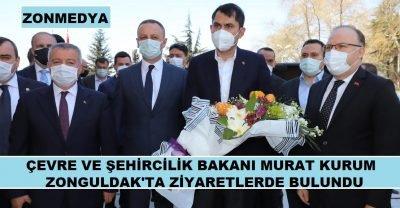 Çevre ve Şehircilik Bakanı Murat Kurum, Zonguldak'ta temaslarda bulundu.