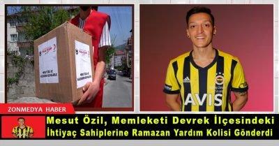 Mesut Özil, memleketi Devrek'teki ihtiyaç sahiplerine gıda kolisi gönderdi