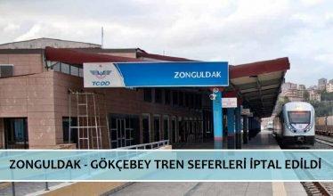 Zonguldak Gökçebey arası tren seferleri iptal edildi.