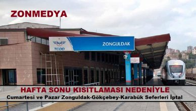 Zonguldak'ta hafta sonu kısıtlamaları nedeniyle tren seferleri yeniden düzenlendi.