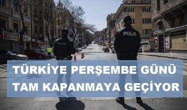 Türkiye, 29 Nisan'dan 17 Mayıs'a kadar sürecek şekilde tam kapanmaya geçiyor.