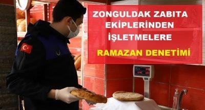 Zonguldak Zabıta ekiplerinden işletmelere Ramazan denetimi