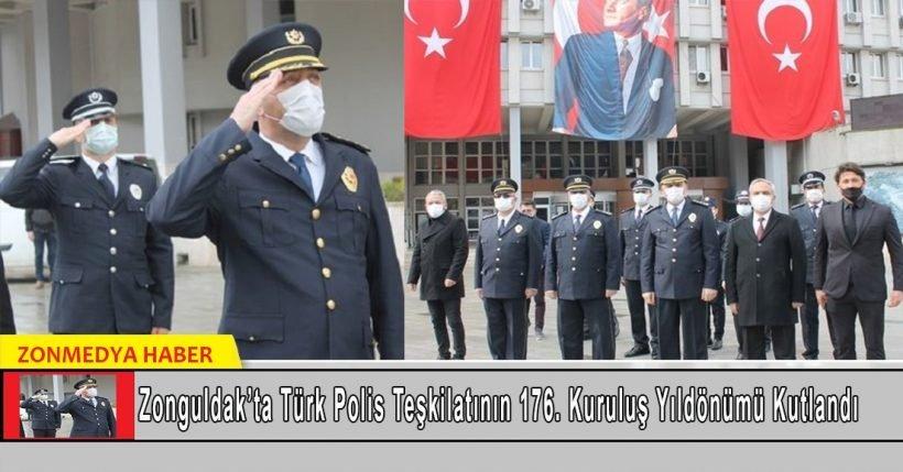 Zonguldak'ta Türk Polis Teşkilatının 176. kuruluş yıl dönümü kutlandı