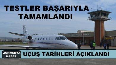 Zonguldak havalimanı testleri başarıyla tamamlandı