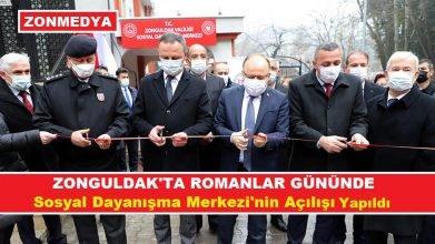 Zonguldak'ta 8 Nisan Dünya Romanlar Günü'nde Sosyal Dayanışma Merkezi'nin açılışı yapıldı