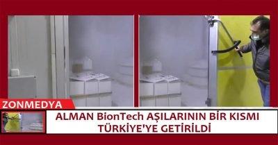 Alman BioNTech aşılarının yeni dozları Türkiye'ye ulaştı.