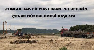 Zonguldak Filyos Liman Projesinin çevre düzenlemesi başladı.