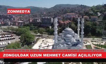 Zonguldak'ta yapımı tamamlanan 6 bin kişilik  Uzun Mehmet Camisi açılıyor