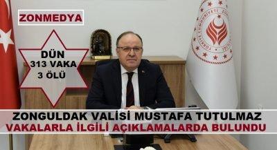 Zonguldak Valisi Tutulmaz, koronavirüs vakalarıyla ilgili açıklamalarda bulundu.
