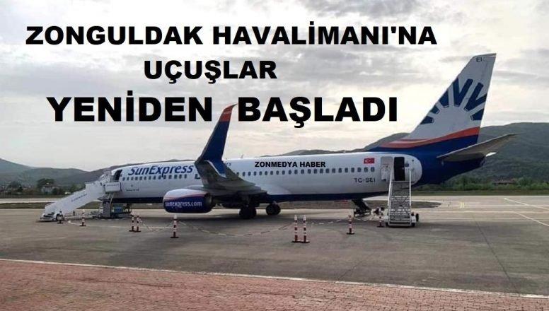 Zonguldak havalimanına uçuşlar yeniden başladı