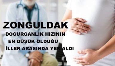 Zonguldak doğurganlık hızının en düşük olduğu iller arasında yer aldı