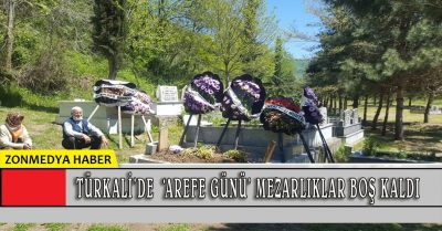 Zonguldak Türkali köyünde 'Arefe Günü' mezarlıklar boş kaldı