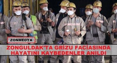Zonguldak'ta grizu faciasında hayatını kaybedenler anıldı