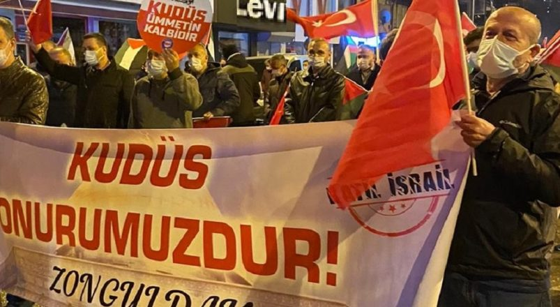 Zonguldak'ta İsrail zulmü protesto edildi.