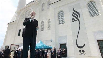 Cumhurbaşkanı Erdoğan Uzun Mehmet Camisi'ni  İbadete  Açtı